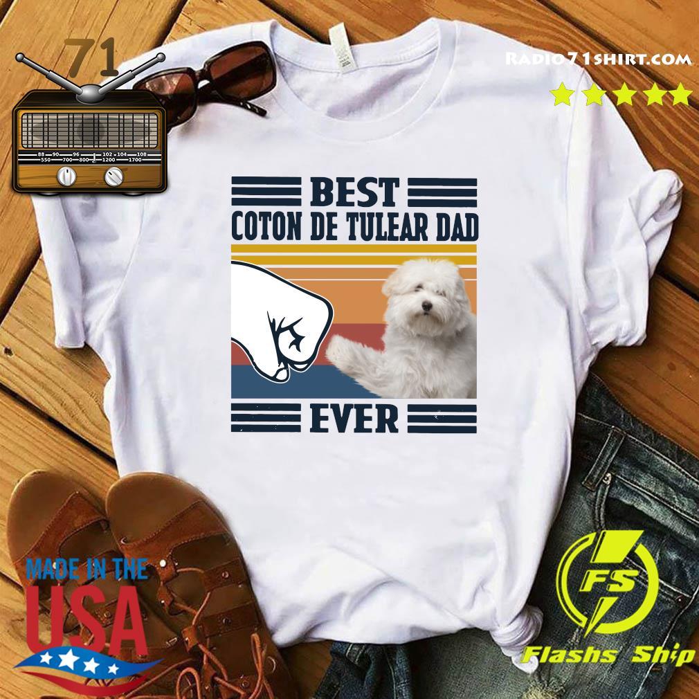 Best Coton De Tulear Dad Ever Vintage Shirt