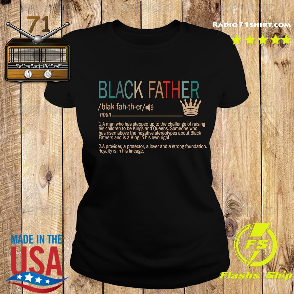 Black Father Definition Vintage Shirt Ladies tee