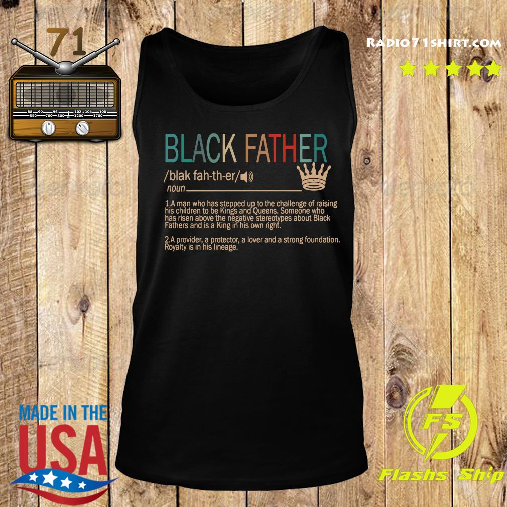Black Father Definition Vintage Shirt Tank top