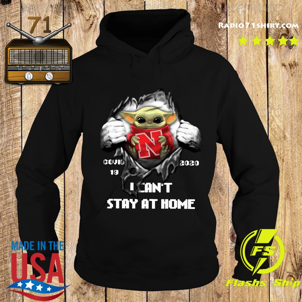 Blood Inside Me Baby Yoda Nebraska Cornhuskers Covid 19 2020 I Can't Stay At Home Hoodie