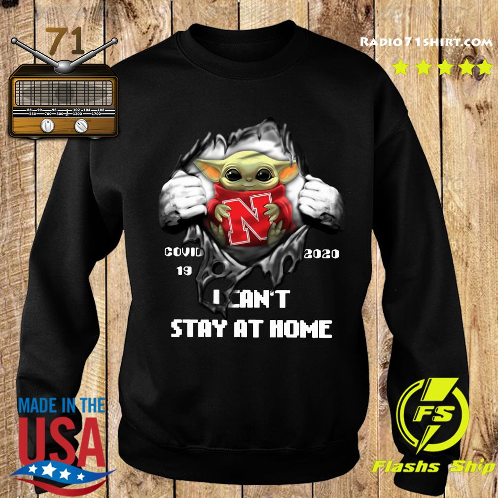 Blood Inside Me Baby Yoda Nebraska Cornhuskers Covid 19 2020 I Can't Stay At Home Sweater