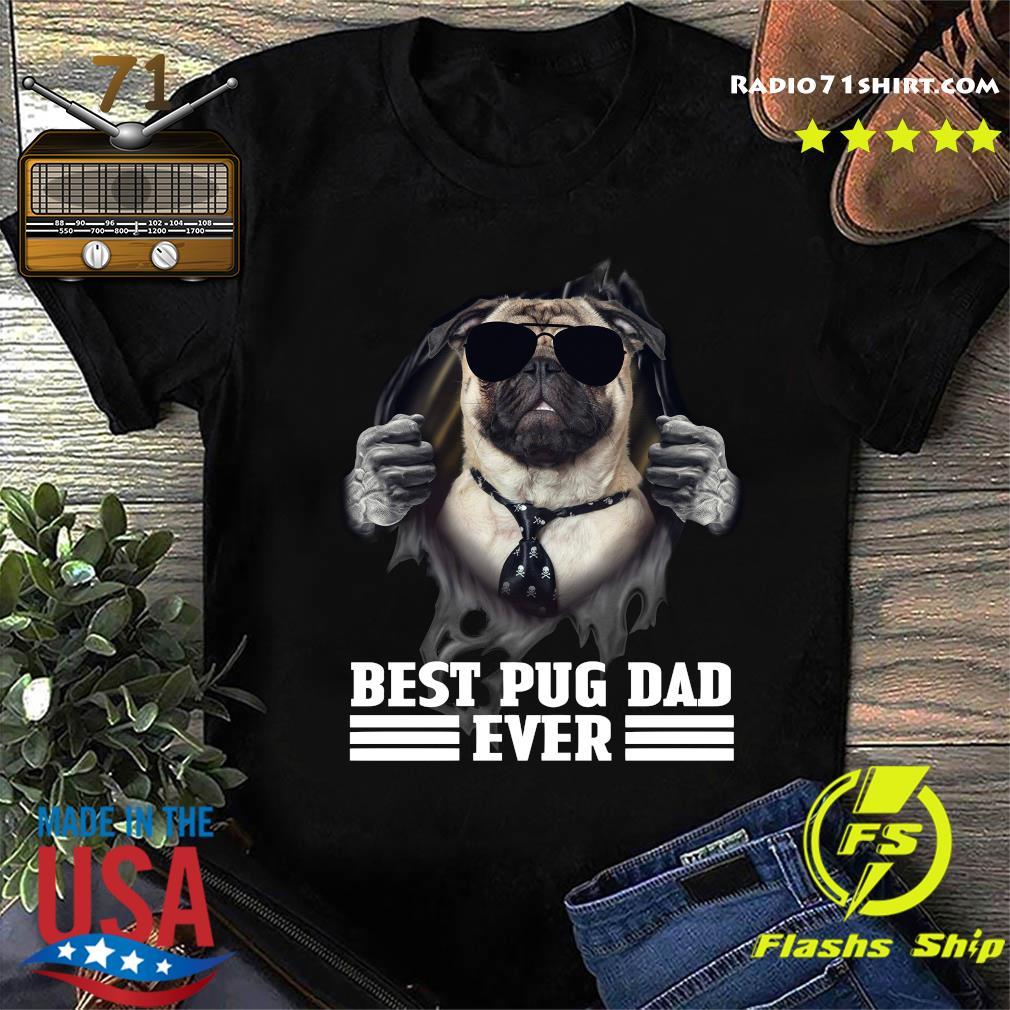 Blood Inside Me Best Pug Dad Ever Shirt