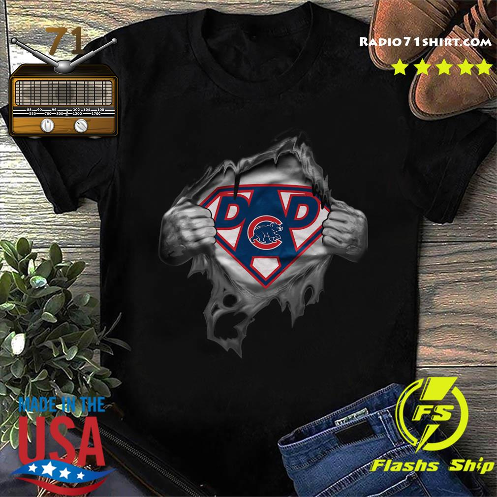 Blood Inside Me Dad Chicago Cubs MLB Baseball Logo Shirt