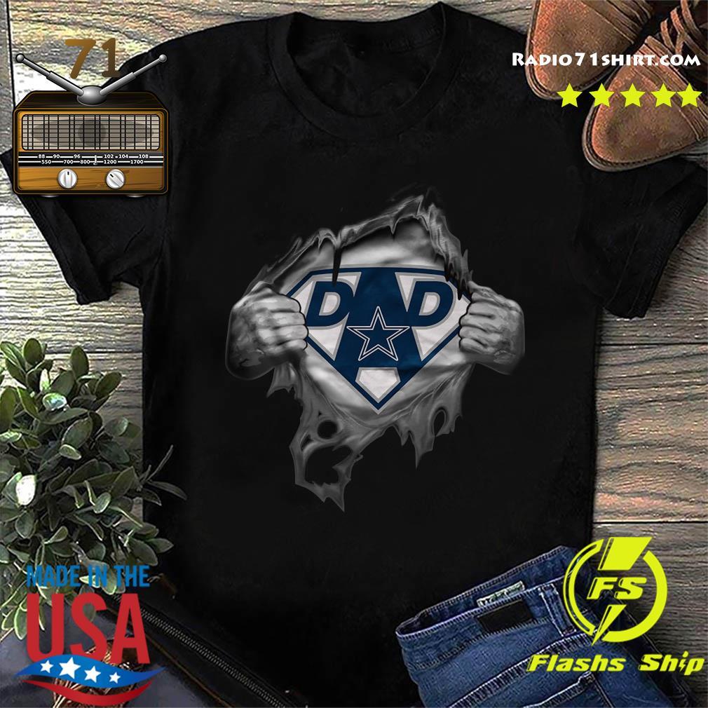 Blood Inside Me Dad Dallas Cowboy Logo Shirt