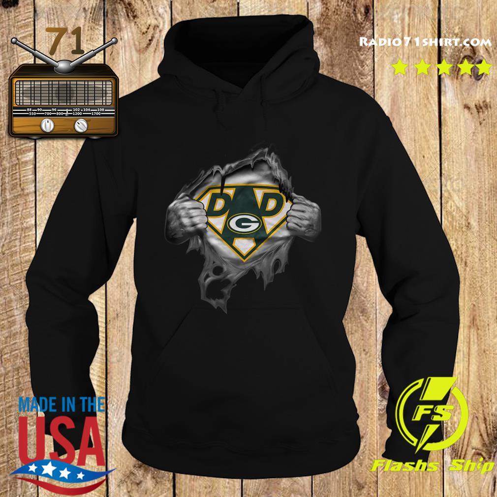 Blood Inside Me Dad Green Bay Packers Logo Shirt Hoodie