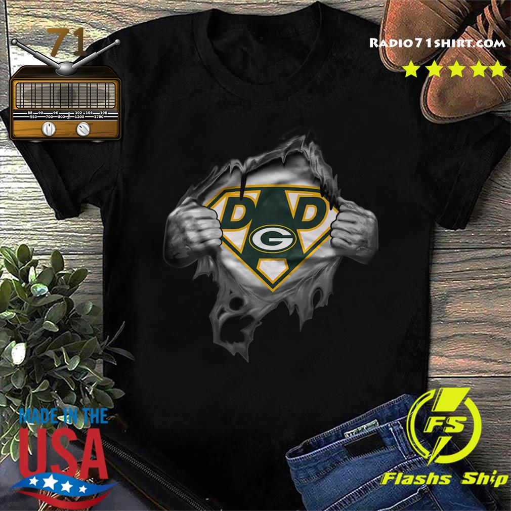 Blood Inside Me Dad Green Bay Packers Logo Shirt