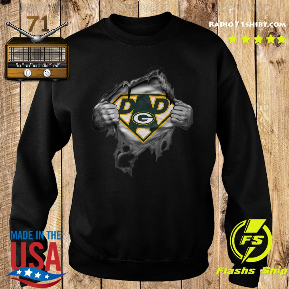 Blood Inside Me Dad Green Bay Packers Logo Shirt Sweater
