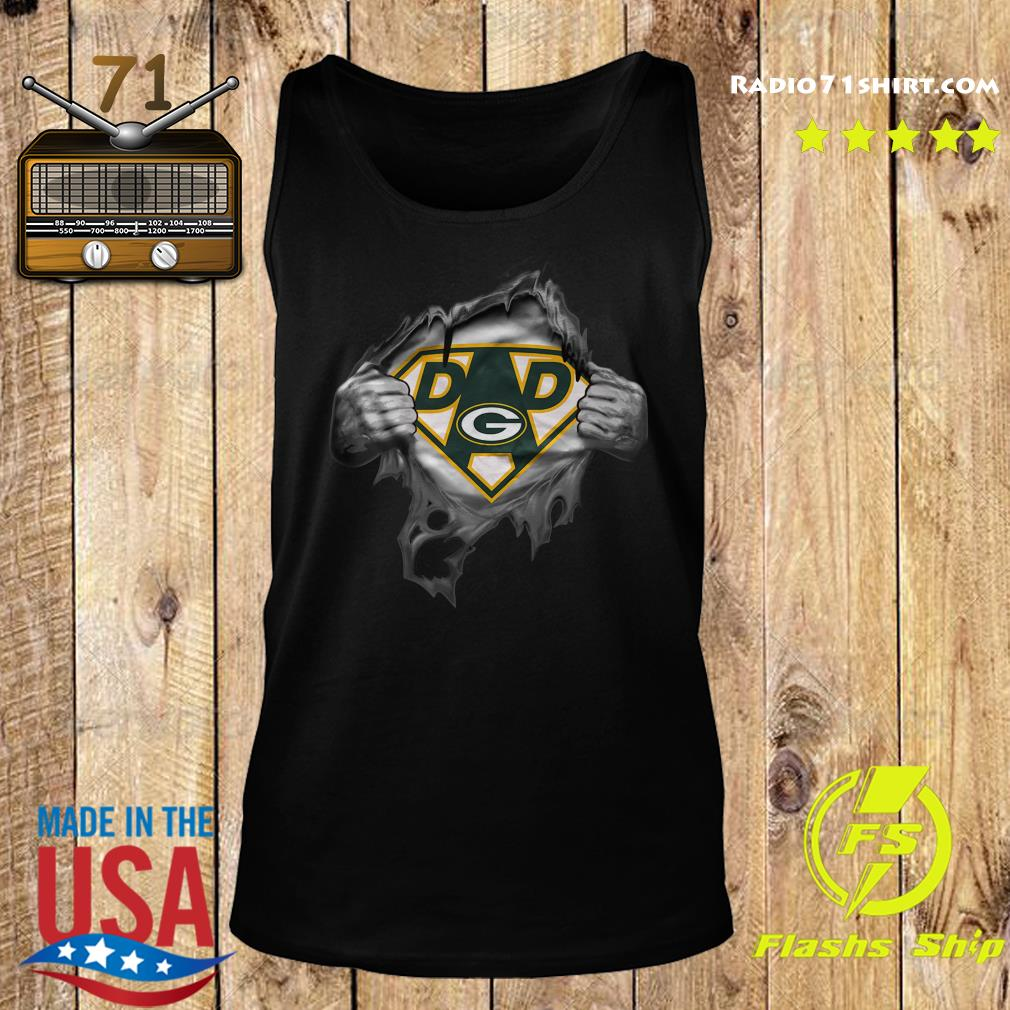 Blood Inside Me Dad Green Bay Packers Logo Shirt Tank top