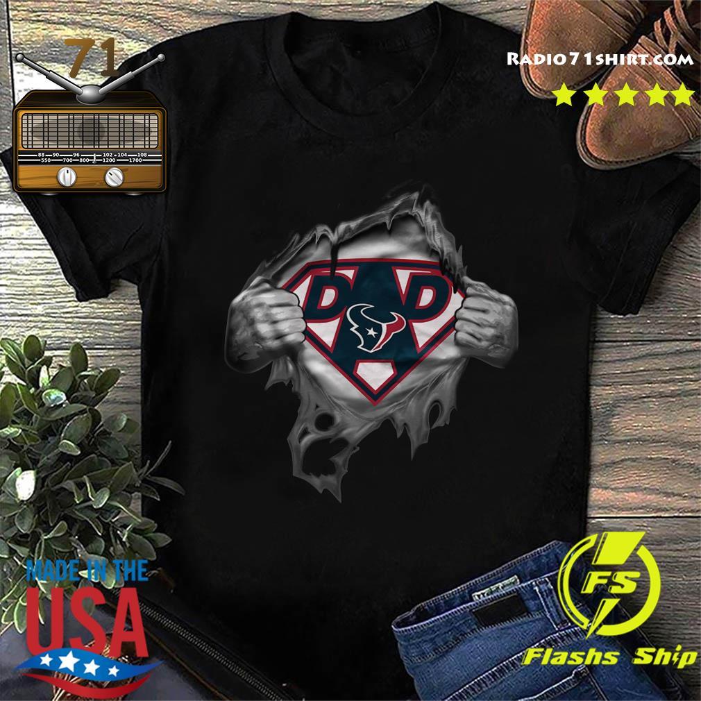 Blood Inside Me Dad Houston Texans NFL Logo Shirt