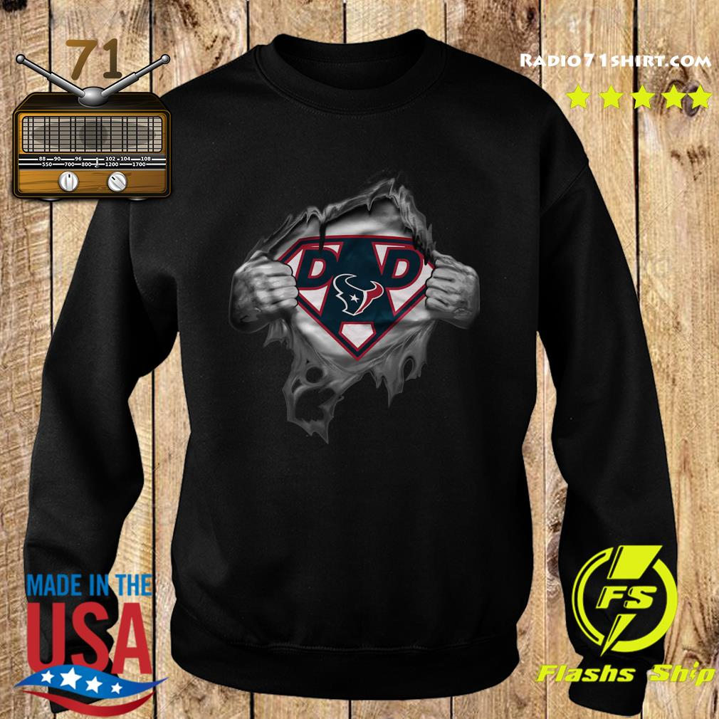 Blood Inside Me Dad Houston Texans NFL Logo Shirt Sweater