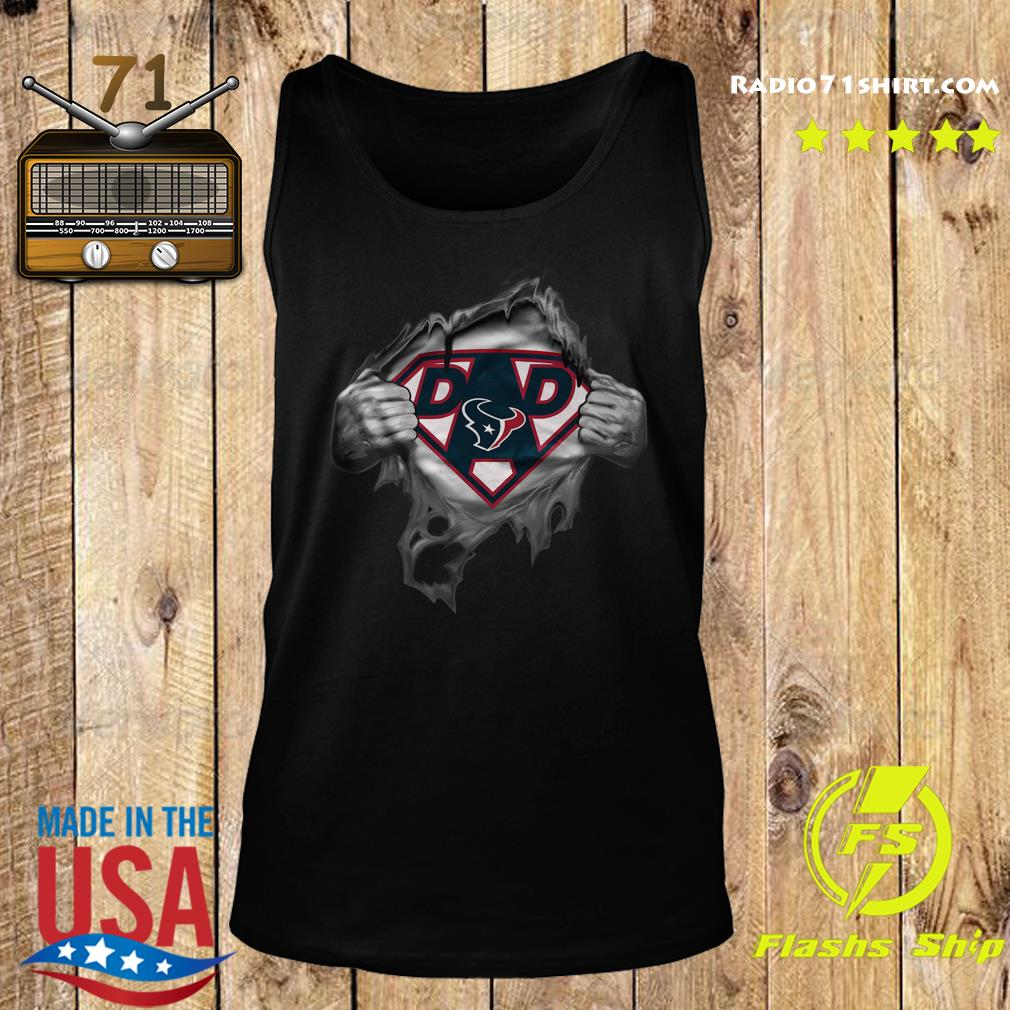Blood Inside Me Dad Houston Texans NFL Logo Shirt Tank top