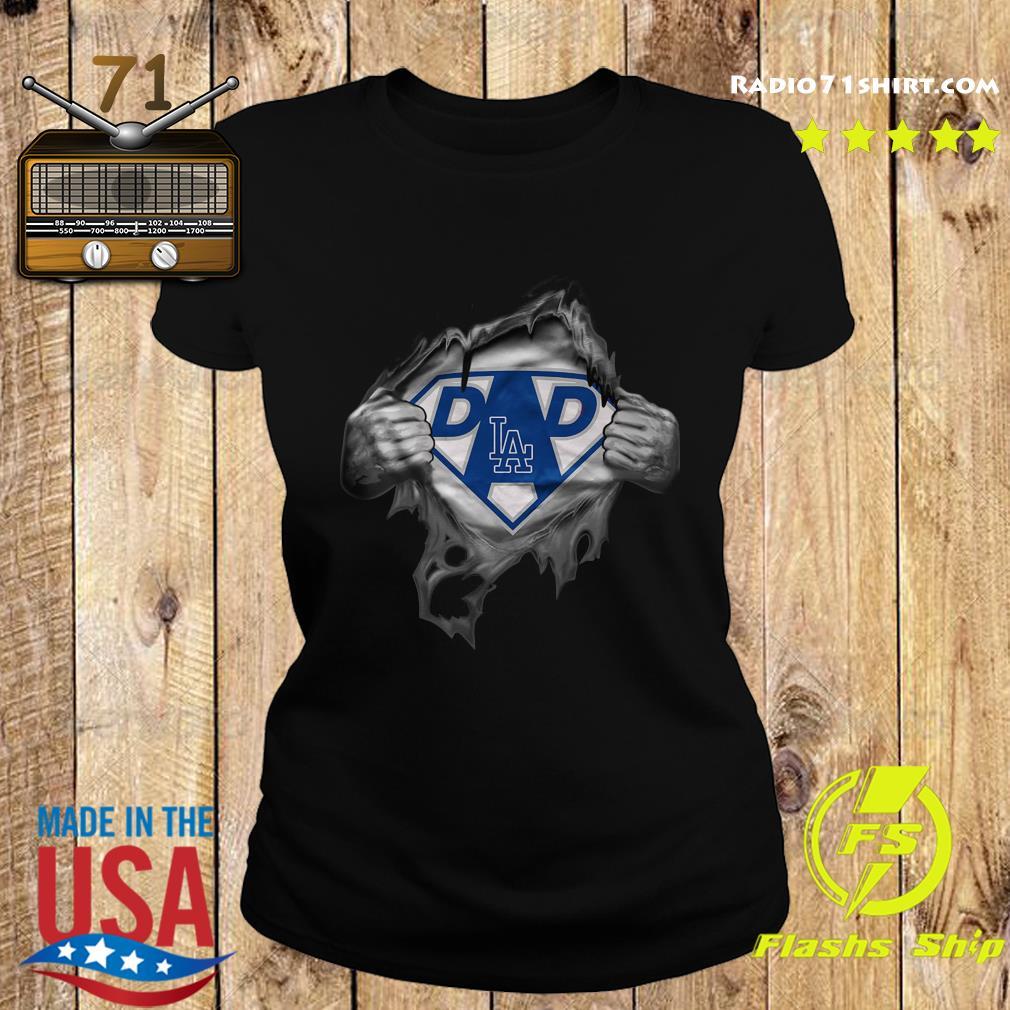 Blood Inside Me Dad Los Angeles Dodgers Logo Shirt Ladies tee
