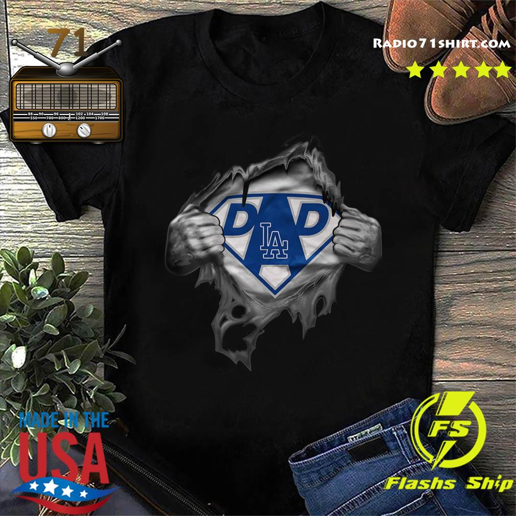 Blood Inside Me Dad Los Angeles Dodgers Logo Shirt
