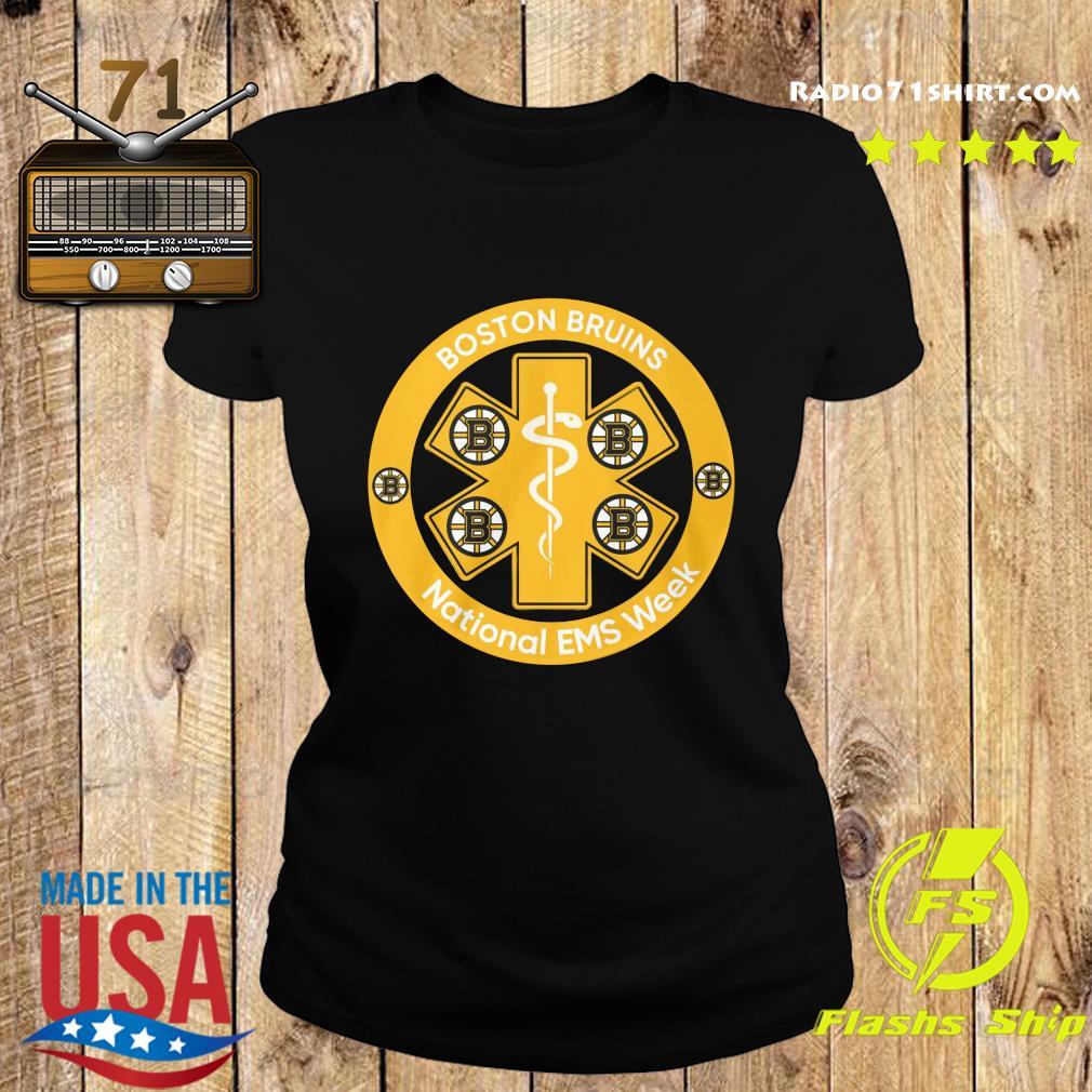 Boston Bruins National Ems Week Shirt Ladies tee