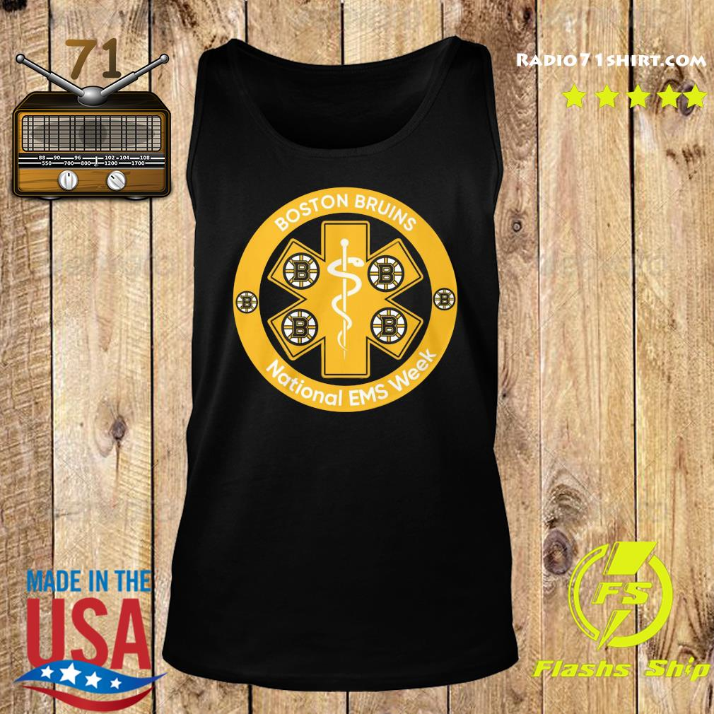 Boston Bruins National Ems Week Shirt Tank top
