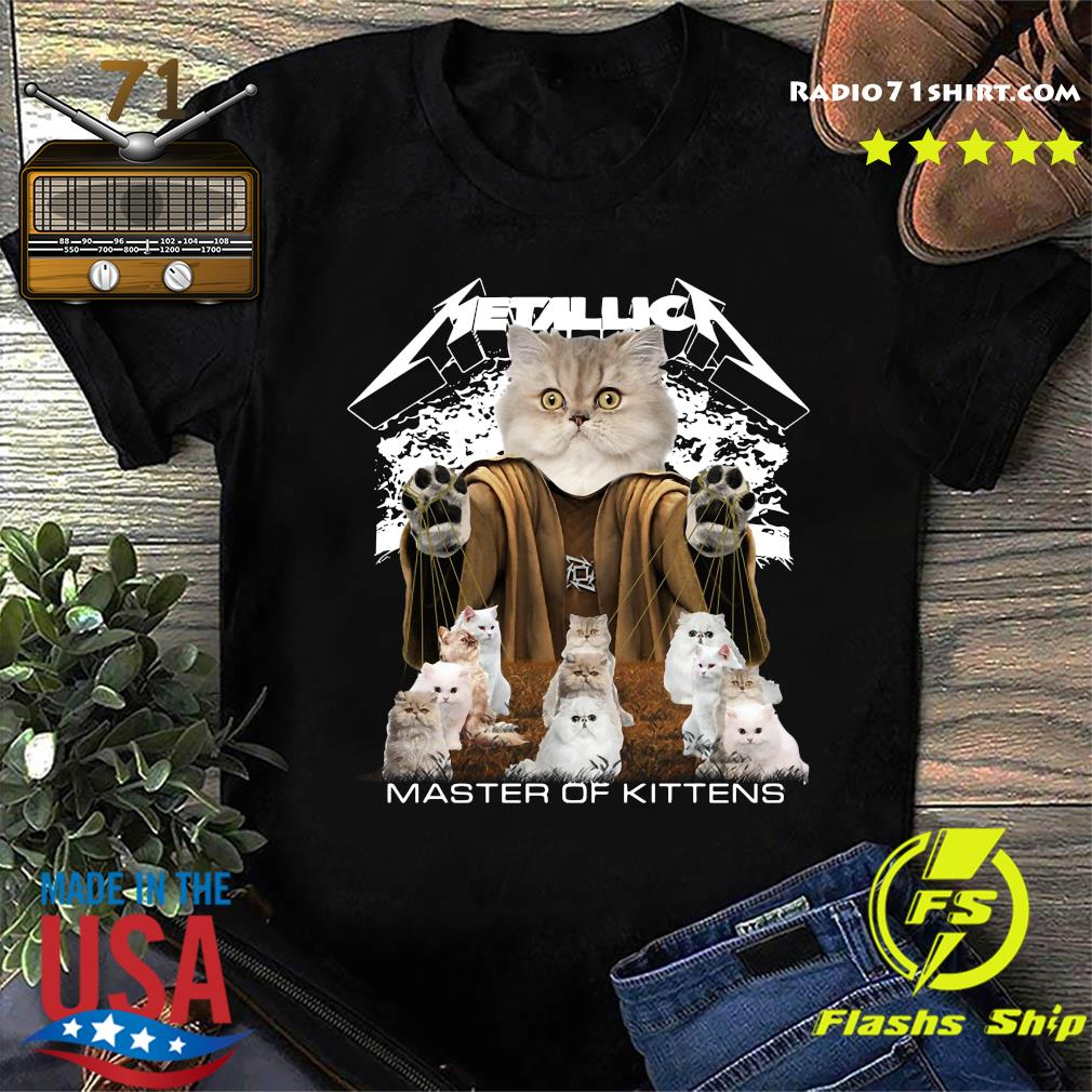 British Longhair Cats Metallica Master Of Kittens Shirt