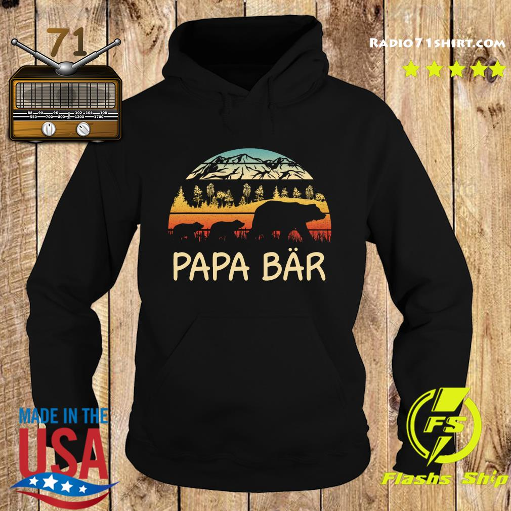 Camping Papa Bar Vintage Shirttee Hoodie