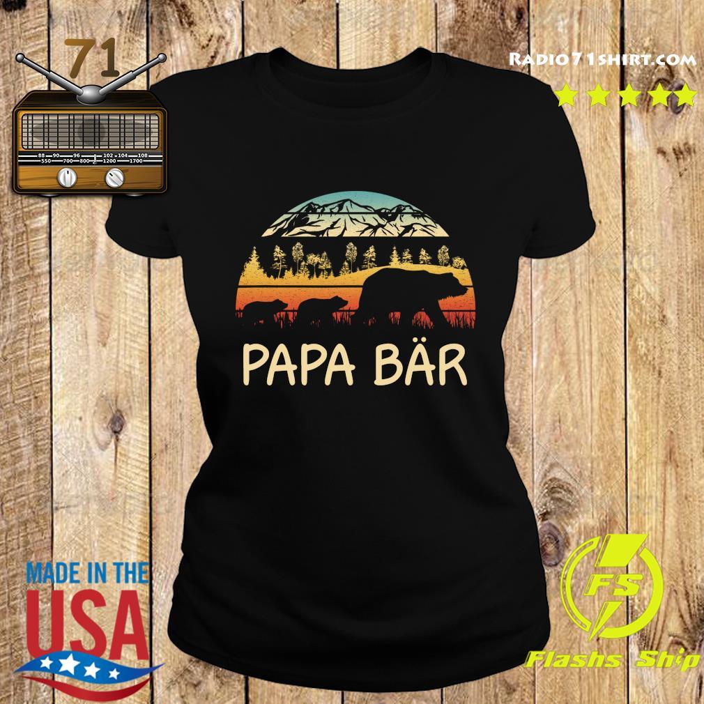 Camping Papa Bar Vintage Shirttee Ladies tee
