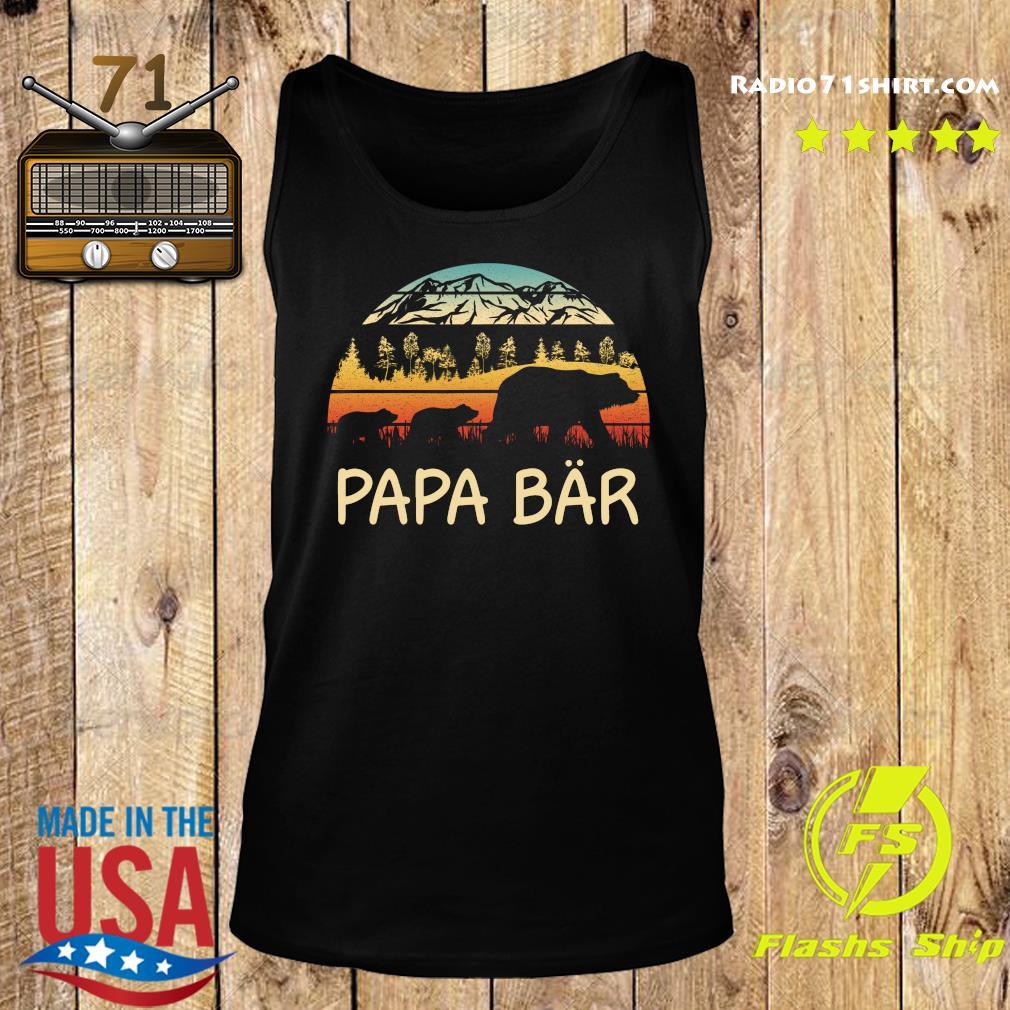 Camping Papa Bar Vintage Shirttee Tank top