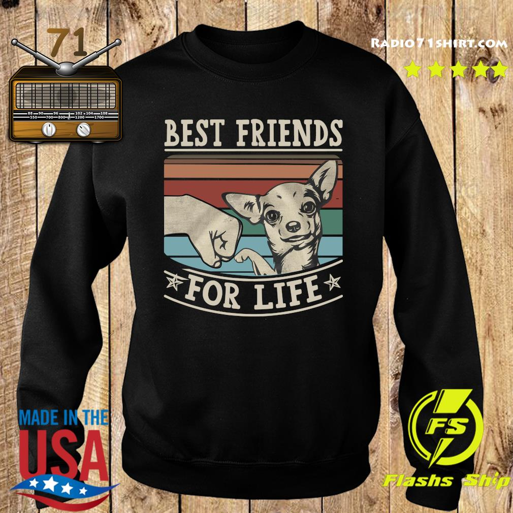 Chihuahua Best Friends For Life Vintage Shirt Sweater