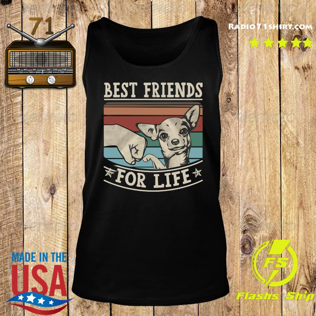 Chihuahua Best Friends For Life Vintage Shirt Tank top