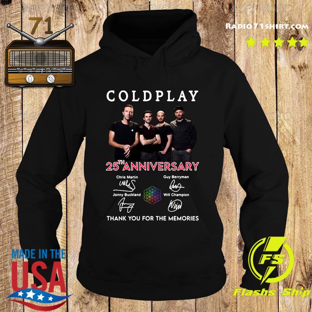 Coldplay 25th Anniversary Thank You For The Memories Signatures Shirt Hoodie