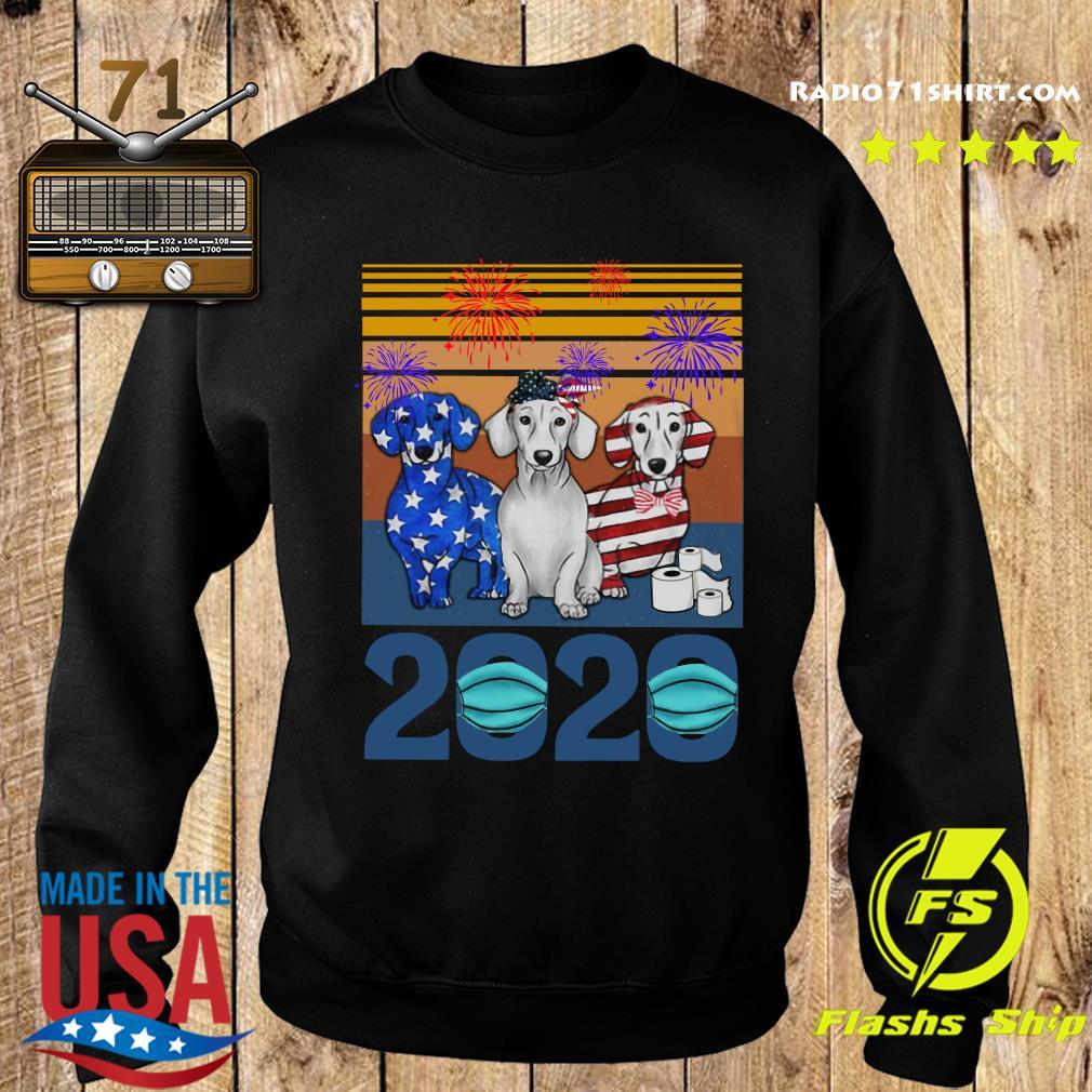 Dachshund 4 Of July 2020 Quarantined Vintage Shirt Sweater