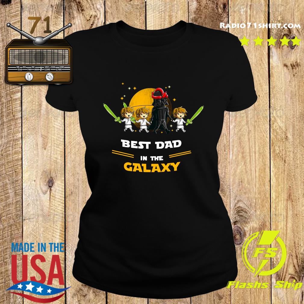 Darth Vader Father And Three Sons Best Dad In The Galaxy Shirt Ladies tee