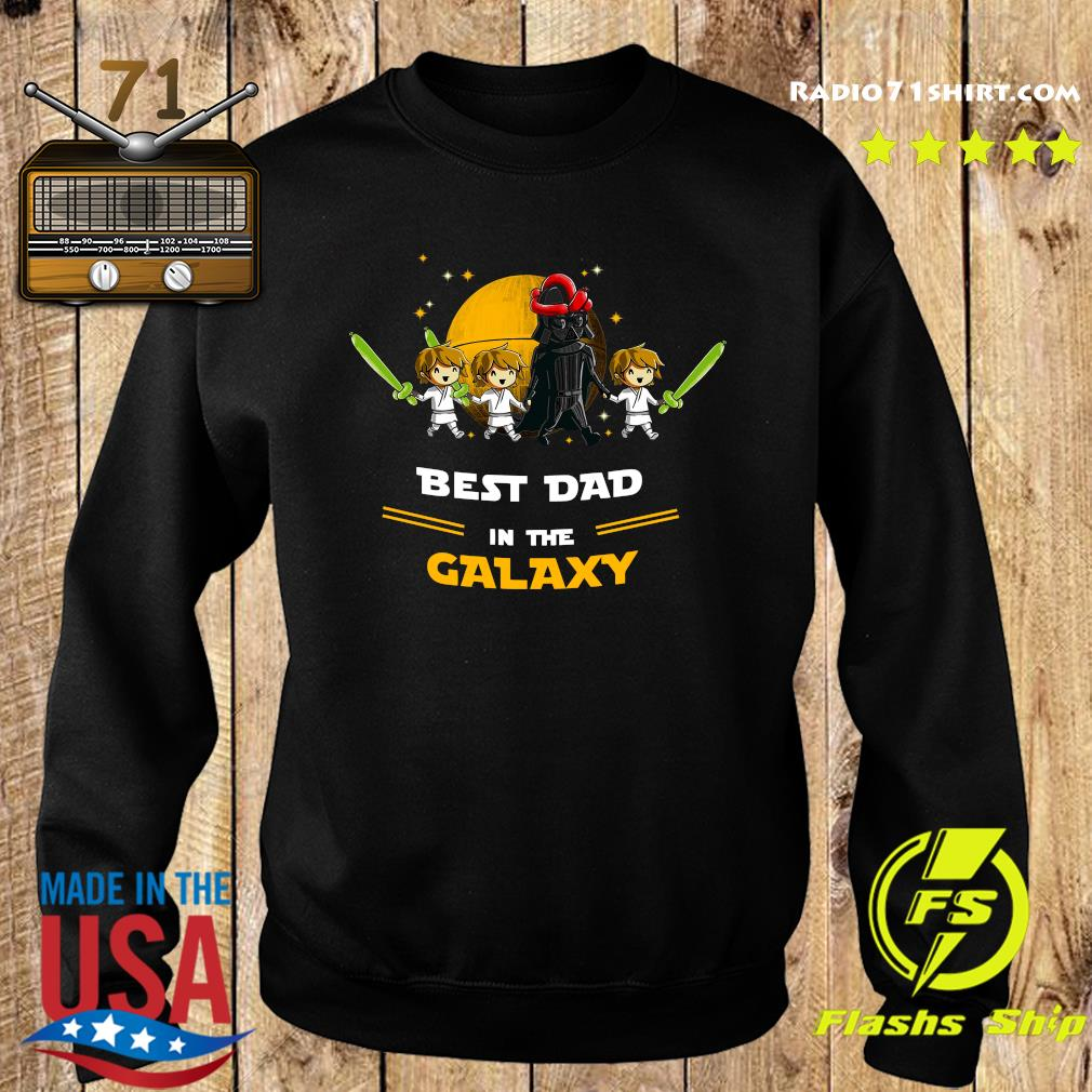 Darth Vader Father And Three Sons Best Dad In The Galaxy Shirt Sweater