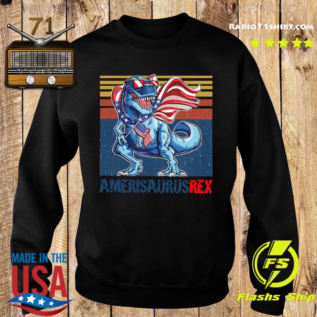 Dinosaur American Flag 4th Of July Ameri Saurus Rex Retro Shirt Sweater
