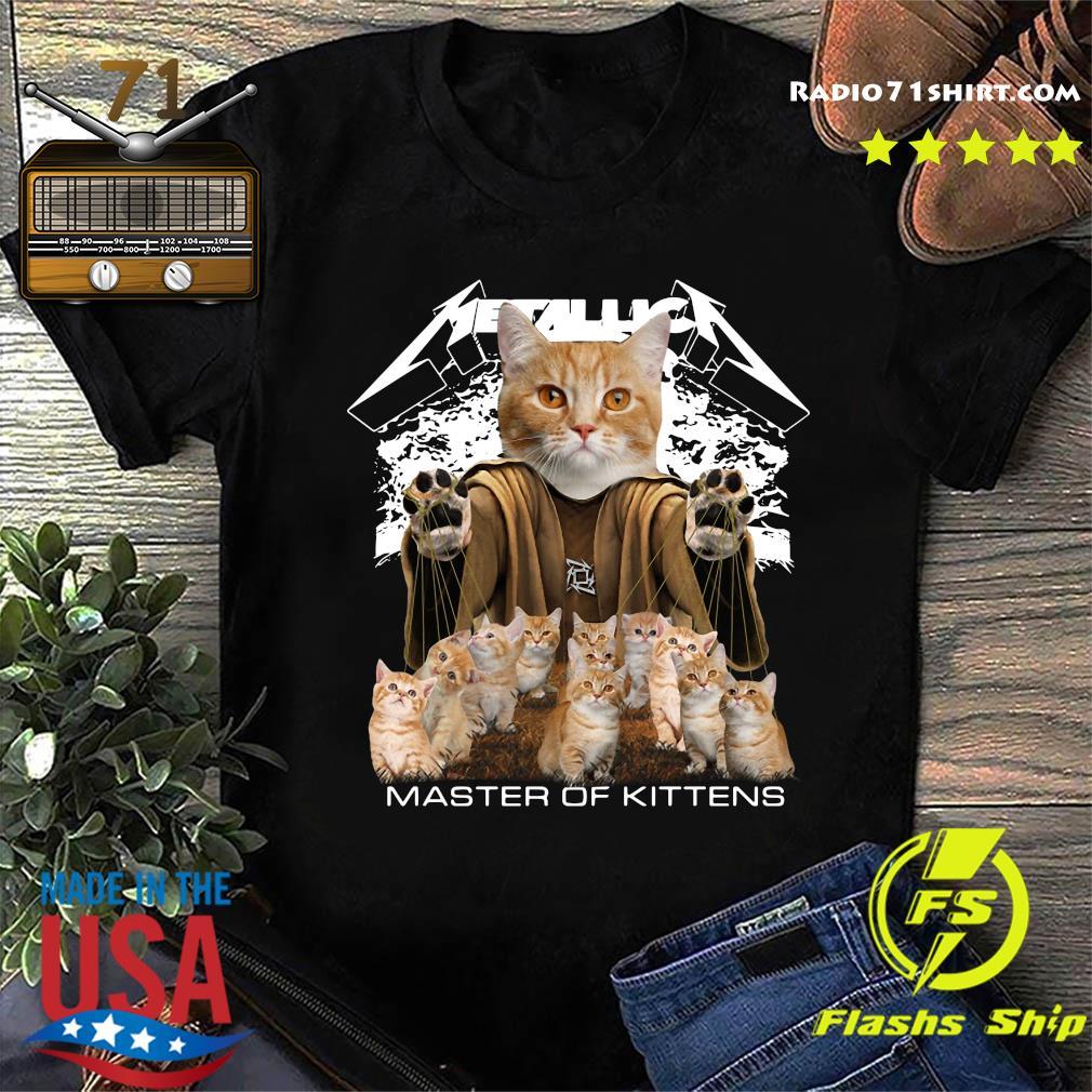 Drain Kucinta Cats Metallica Master Of Kittens Shirt