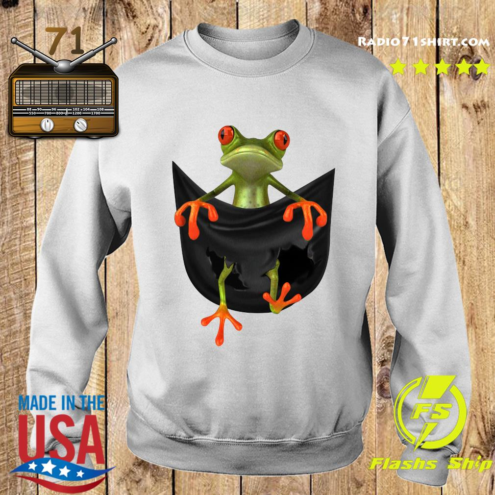Frog In Pocket Shirt Sweater