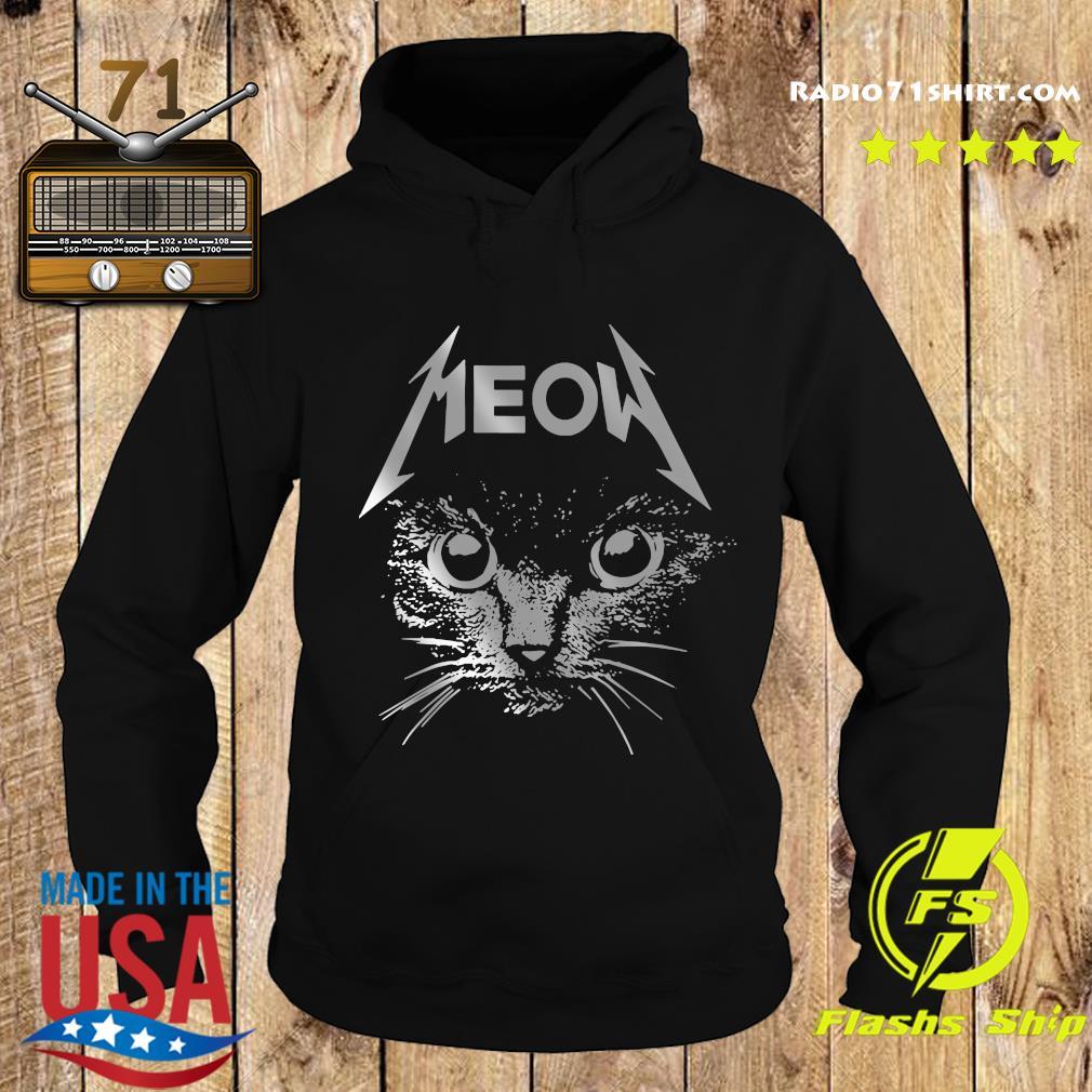 Great Metallica Meowtalica Black Cat Shirt Hoodie