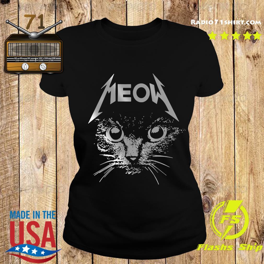Great Metallica Meowtalica Black Cat Shirt Ladies tee