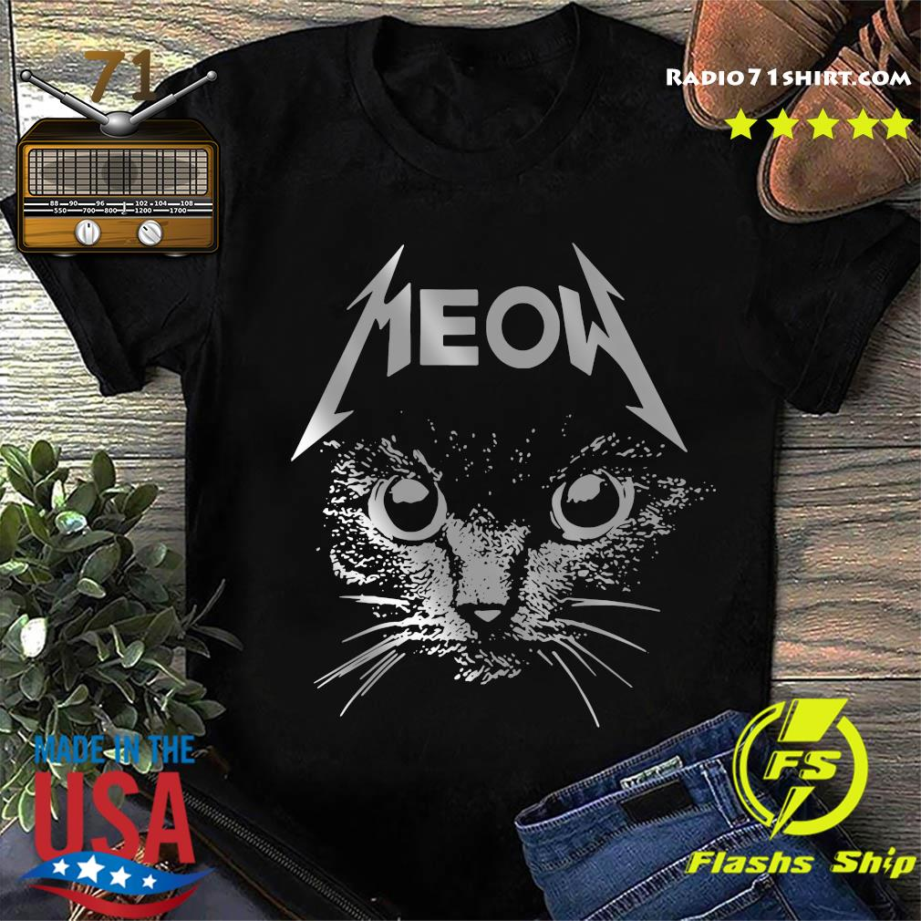 Great Metallica Meowtalica Black Cat Shirt