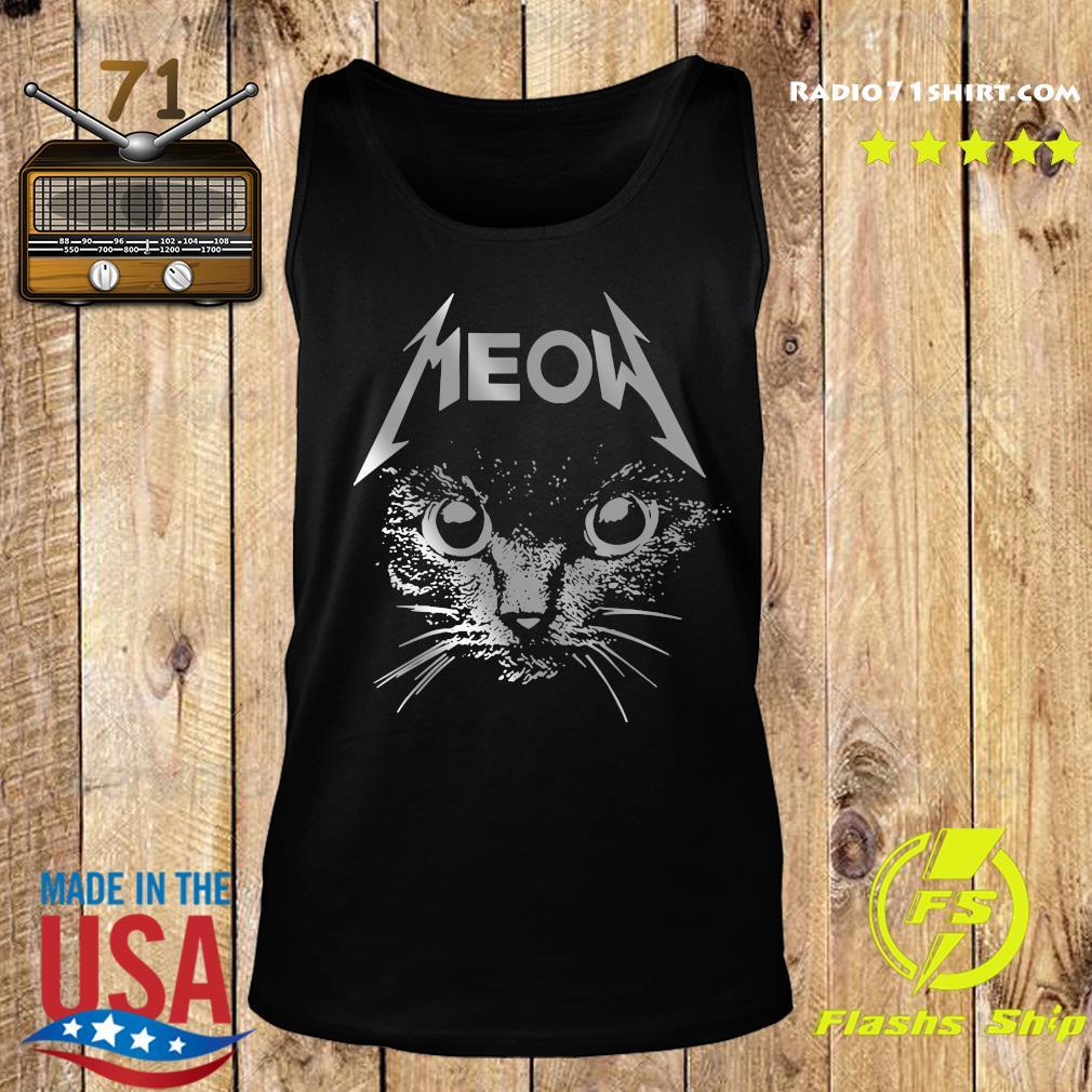 Great Metallica Meowtalica Black Cat Shirt Tank top