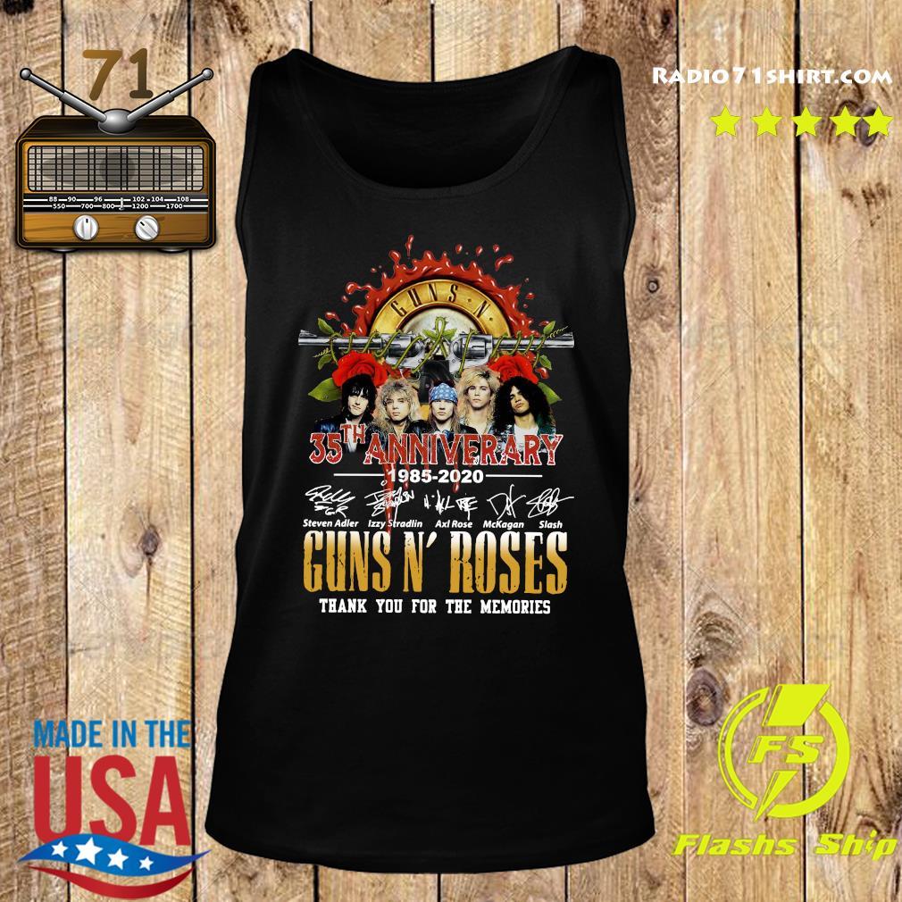 Guns N Roses 35th Anniversary 1985 2020 Thank You For The Memories Signatures Shirt Tank top