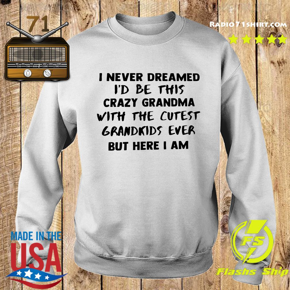 I Never Dreamed I'd Be This Crazy Grandma With The Cutest Grandkids Ever But Here I Am Shirt Sweater