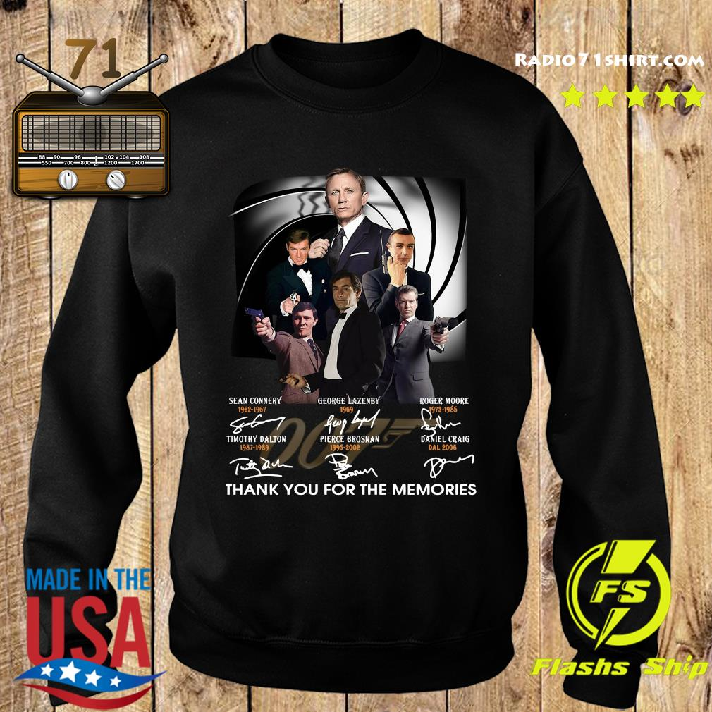 James Bond 007 Sean Connery George Lazenby Roger Moore Thank You For The Memories Signatures Shirt Sweater