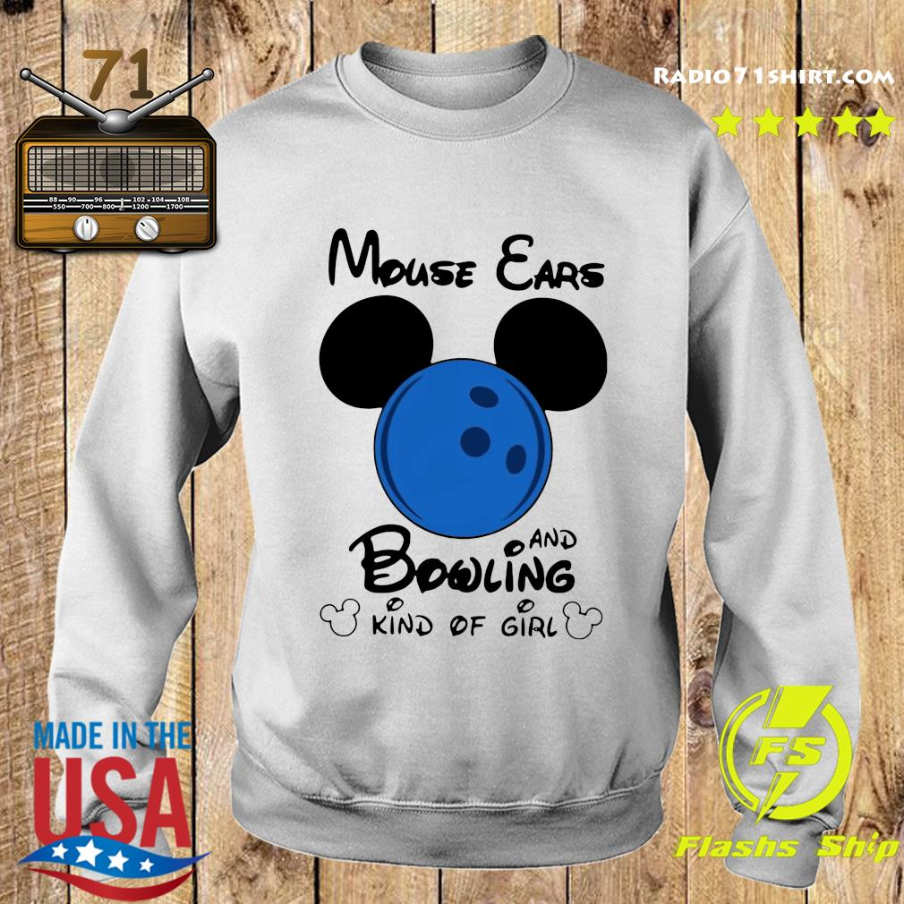 Mickey Mouse Ears And Bowling Kind Of Girl Shirt Sweater