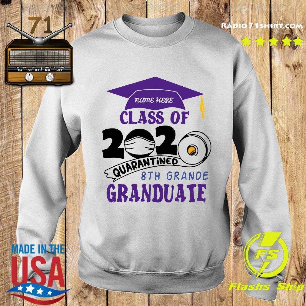 Name Here Class Of 2020 Quarantined 8th Grande Granduate Purple Shirt Sweater