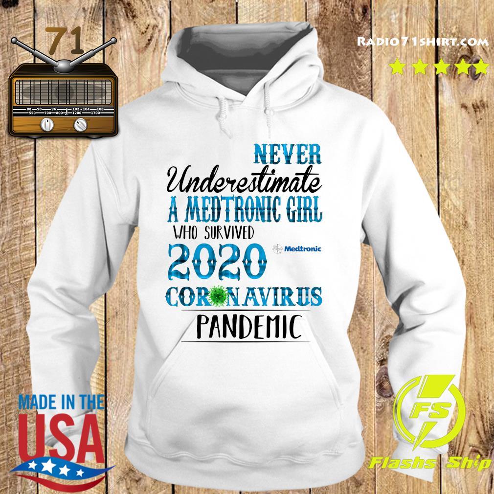 Never Underestimate A Medtronic Girl Who Survived 2020 Coronavirus Pandemic Shirt Hoodie