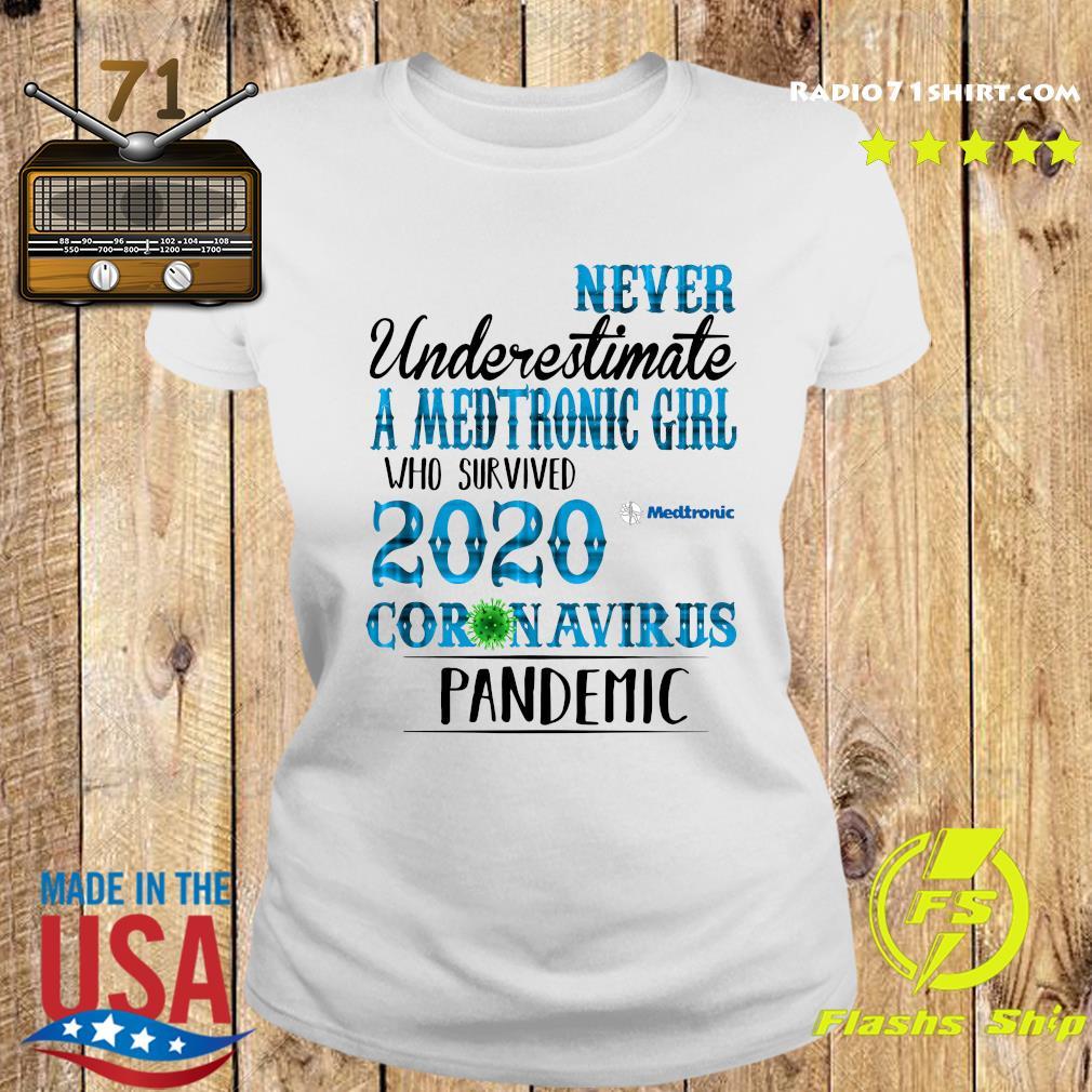 Never Underestimate A Medtronic Girl Who Survived 2020 Coronavirus Pandemic Shirt Ladies tee