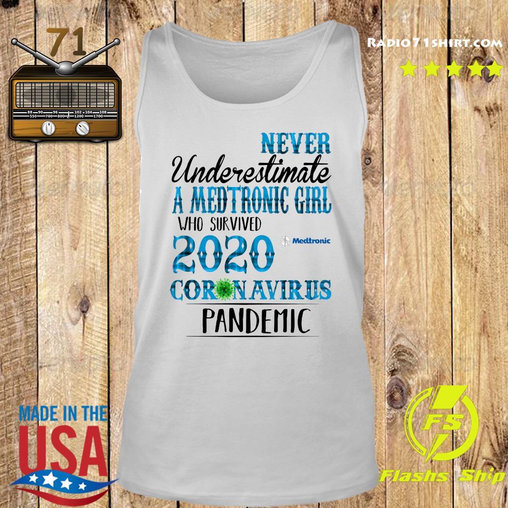 Never Underestimate A Medtronic Girl Who Survived 2020 Coronavirus Pandemic Shirt Tank top