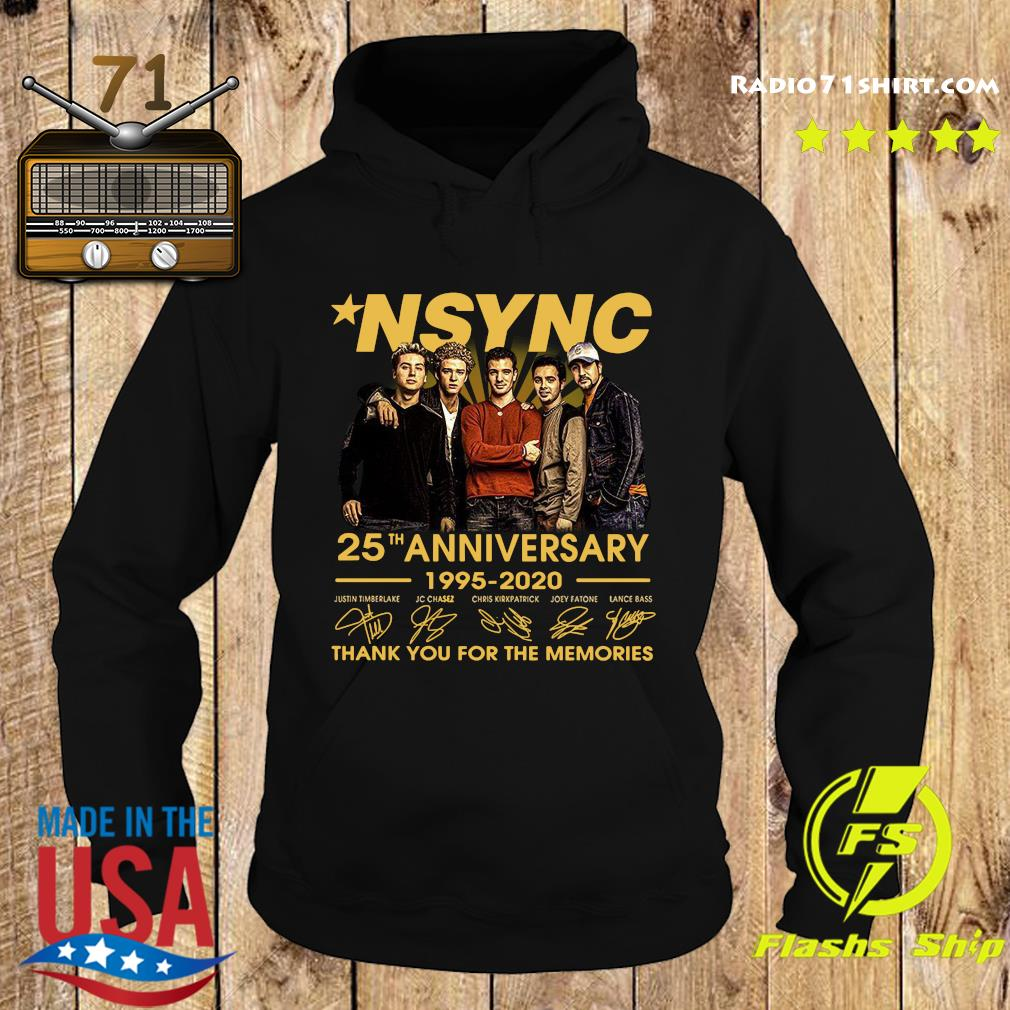 Nsync 25th Anniversary 1995 2020 Thank You For The Memories Signatures Shirt Hoodie