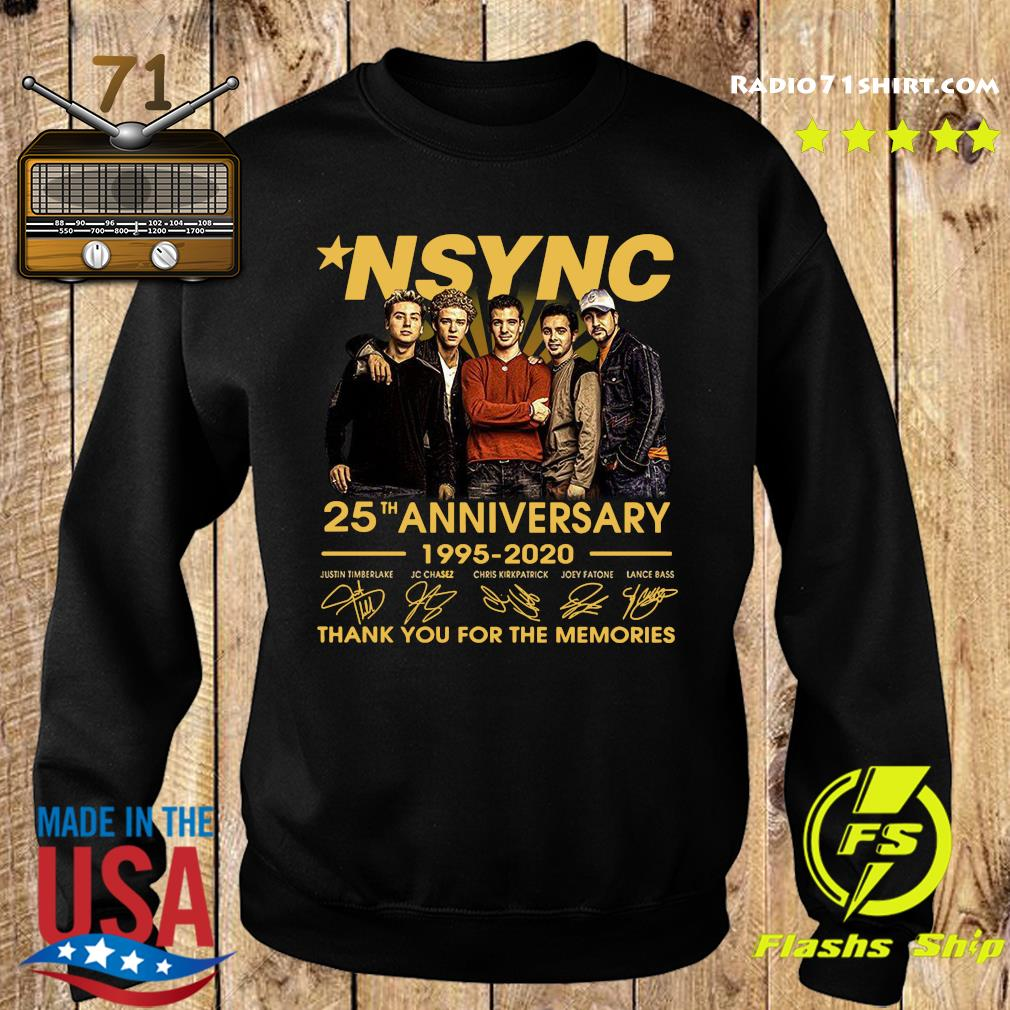 Nsync 25th Anniversary 1995 2020 Thank You For The Memories Signatures Shirt Sweater