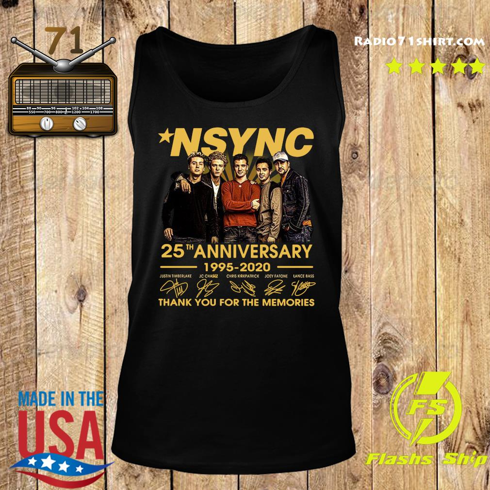 Nsync 25th Anniversary 1995 2020 Thank You For The Memories Signatures Shirt Tank top