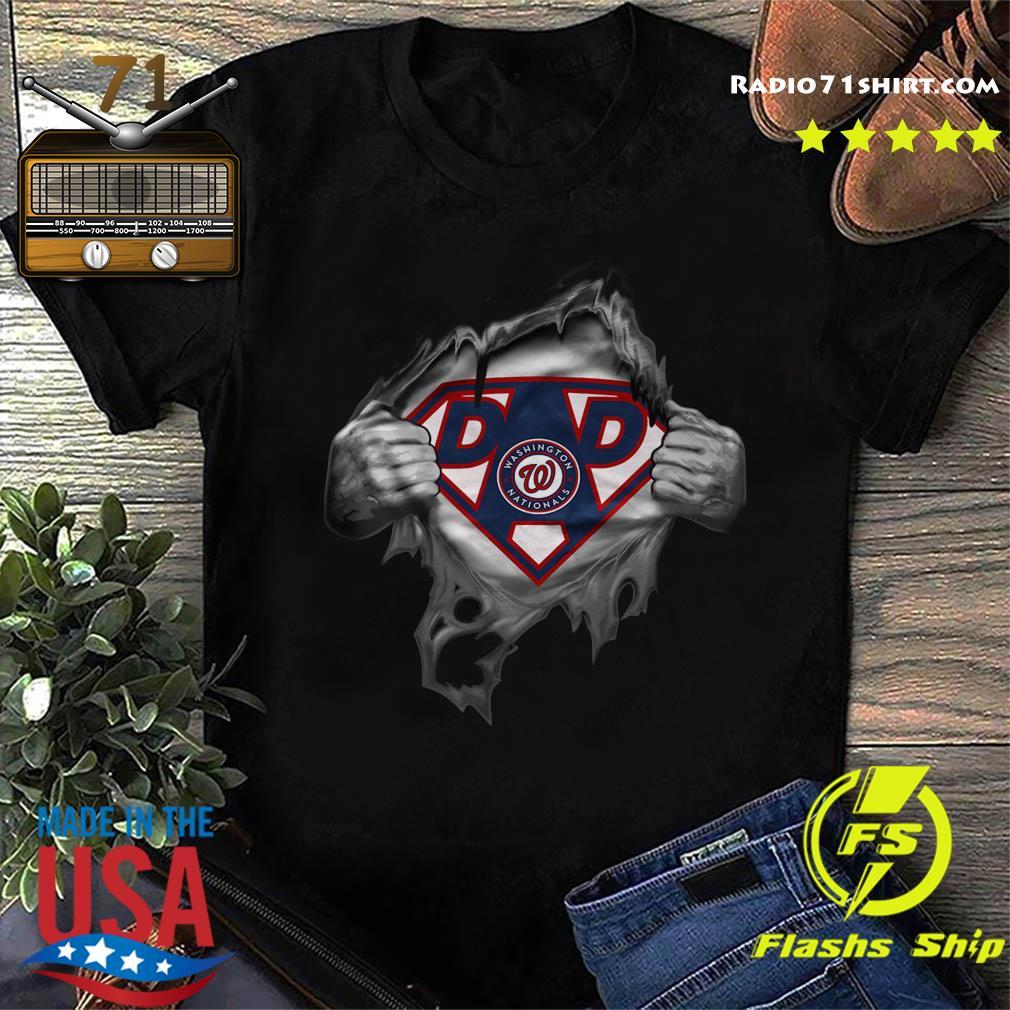 Official Blood Inside Me Dad Washington Nationals Logo Shirt