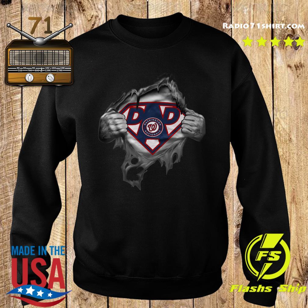 Official Blood Inside Me Dad Washington Nationals Logo Shirt Sweater
