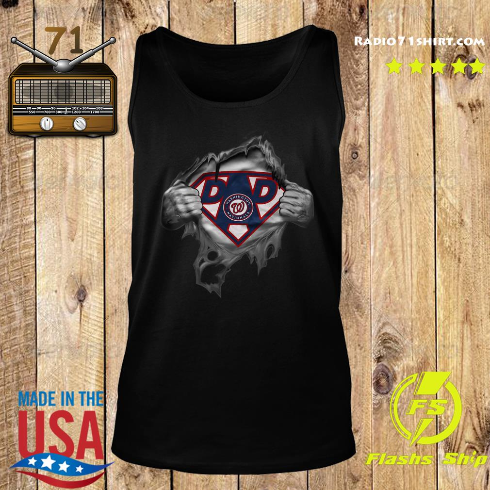 Official Blood Inside Me Dad Washington Nationals Logo Shirt Tank top